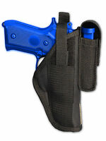 Barsony Owb Gun Holster W/ Magazine Pouch For Walther, Steyr Full Size 9mm 40 45