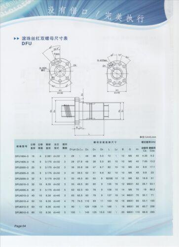 Ballnut For SFU1605 C7 Anti Backlash Ballscrew nut only