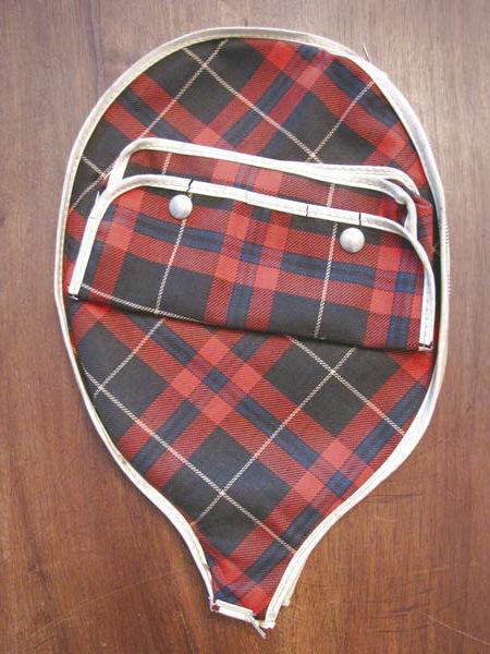 Custodia Fodera Porta Racchetta vintage da Tennis TINTA SCOZZESE vintage Racchetta in legno wood e060d2