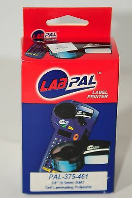 "Energetic Brady Labpal Lab Pal-375-461 Labels 0.375"" Black On White Idpal Id 1 Roll New"