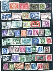 CANADA-ASSORTMENT-OF-51-ITEMS-ALL-GENUINE-amp-DIFFERENT-VERY-NICE-LOT-2019CA03