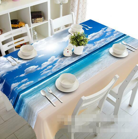 3D Sky beach61 Tablecloth Table Cover Cloth Birthday Party Event AJ WALLPAPER AU