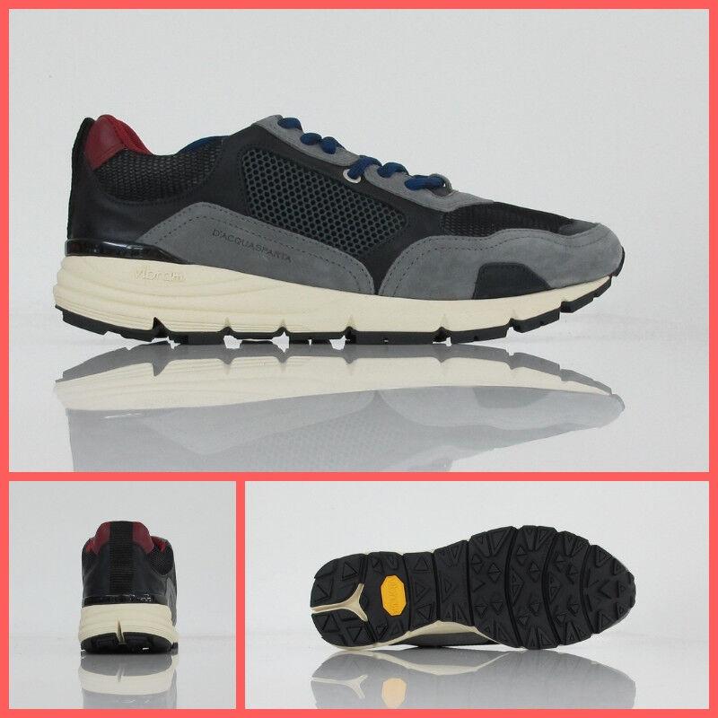 D'ACQUASPARTA scarpe/sneaker uomo BRUNELL U300 GN col. GRIGIO/NERO inverno 2018
