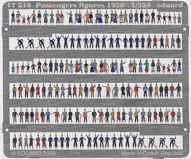 Eduard Accessories 17510 Ätzsätze Schiffahrt Passengers Figures 1920