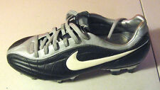 NEW Nike Youth Air Legend FG Soccer Cleats Size 6 Black & Silver HARD TO FIND!