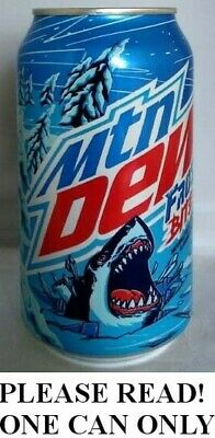 Mountain Mtn Dew Frostbite 12 OZ Full Can New Shark Logo Limited Edition