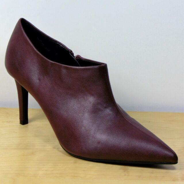 Ladies M\u0026s Wine Stiletto Heel Side Zip