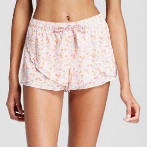 XHILARATION-Womens-Pajama-Shorts-Sleep-Lounge-Light-weight-Floral-Medium