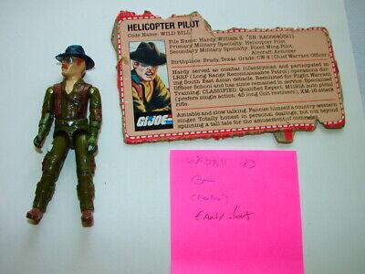 "1983 GI Joe Wild Bill 3 3//4/"" Action Figure ONLY"