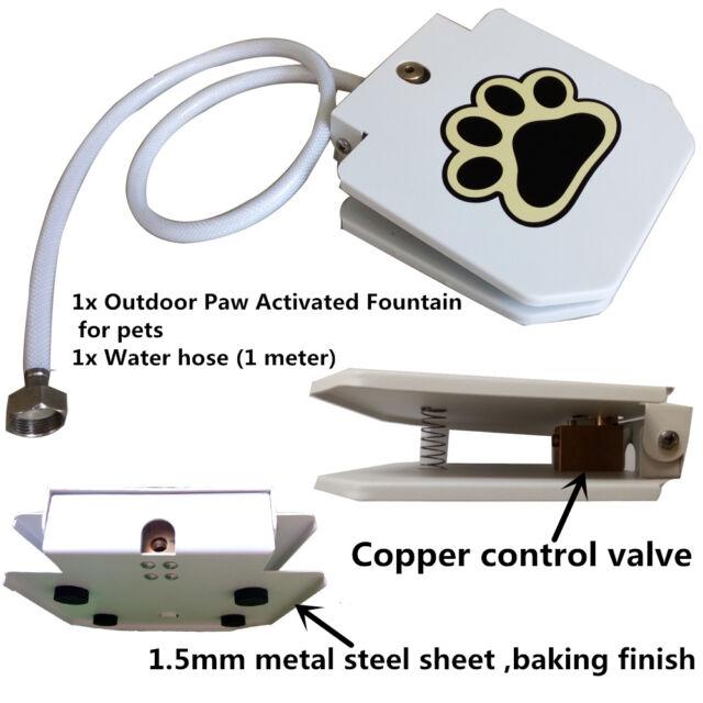 automatic doggie water fountain dog sprinkler dispenser paw