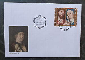 2016-LUXEMBOURG-PAINTINGS-ALBRECHT-BOUTS-SET-OF-2-STAMPS-FDC-FIRST-DAY-COVER