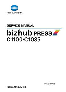 Details about Service & Parts Manual Konica Minolta bizhub Press C1100 C1085