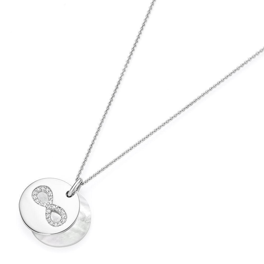 Femme Collier avec Pendetif Infinity Infini silver 925 99027193450 925
