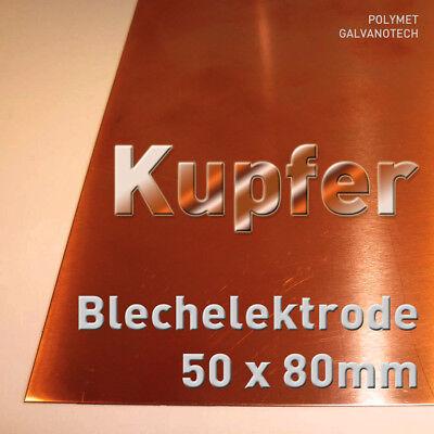 15 x 10 cm Elektrode Blech Galvanik für Kupferelektrolyt Kupfer-Anode
