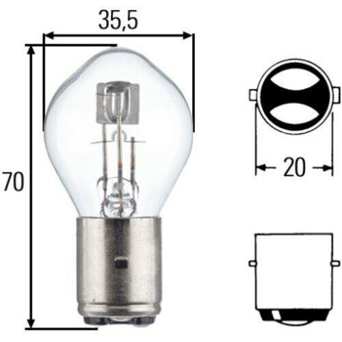 HELLA Glühlampe, Hauptscheinwerfer, Glühlampe, 8GD 002 084-251