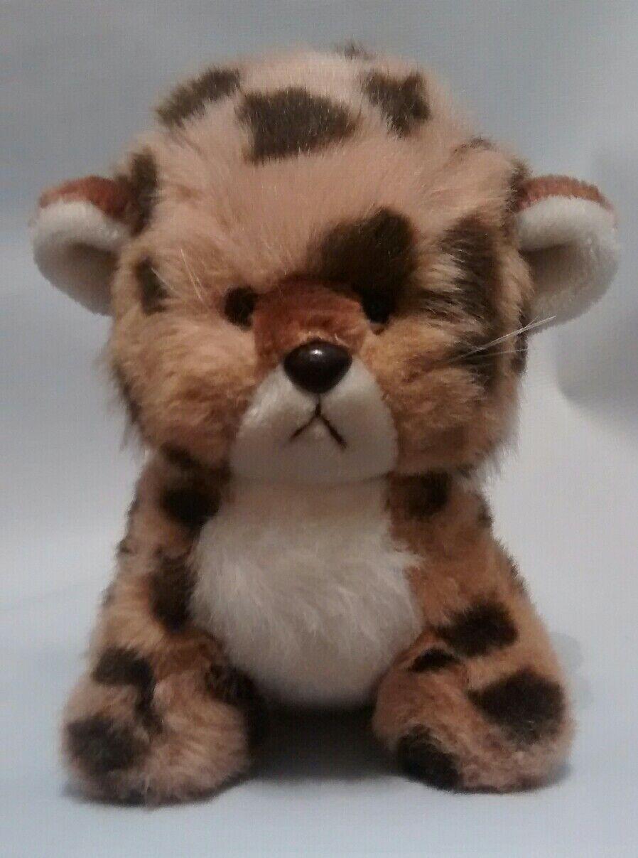 Gund Vintage Vintage 1982 Cat Leopard Kitten Spots Tan Brown White 9  Sitting