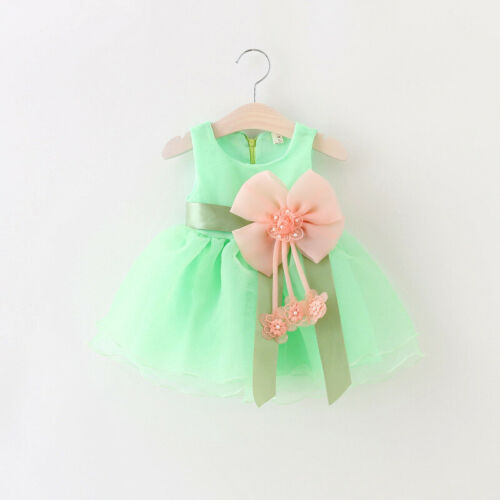 Summer Baby Toddlers Girls Flower Dresses Kids Princess 6~-24 Months Clothes