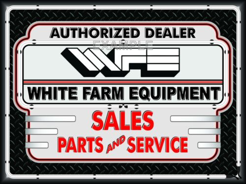 WHITE FARM EQUIPMENT TRACTOR DEALER NEON EFFECT BANNER SIGN ART MURAL 4/' X 3/'