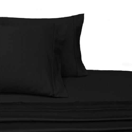 Deep Pocket 600 Thread Count Solid Sheet Set Combed Cotton Bed Sheet Set