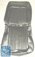 1967 Barracuda Seat Covers Black - Front Buckets & Fastback Rear - Pui