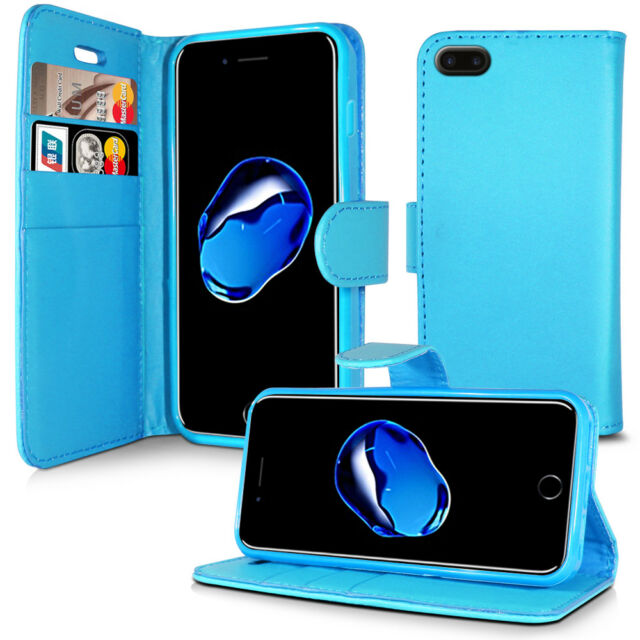 PLAIN SKY BLUE LEATHER WALLET BOOK CASE COVER FOR SONY XPERIA XZ XA1 MORE MODELS