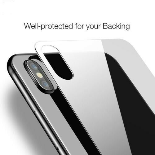 Back Rear Tempered Glass Screen Protector Film Cover Guard for iPhone X