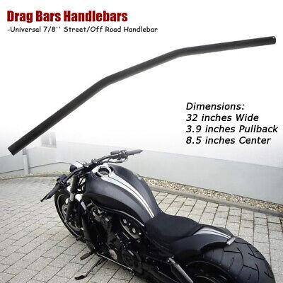 Motorcycle Universal Straight Handlebars Drag Bar With 7//8 inch 22mm Bar