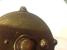 Vintage Brass Fishing Reel By 4 Brothers Mohawk Trade Mark