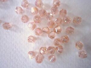 100 Austrian Crystal Glass Bicone Bead Jewellery MakingTiara Pale Pink AB 4mm - Leicester, United Kingdom - 100 Austrian Crystal Glass Bicone Bead Jewellery MakingTiara Pale Pink AB 4mm - Leicester, United Kingdom