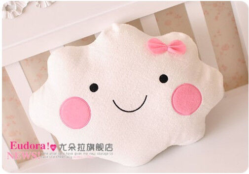 cute smiling cloud plush toy lovely couple cushion Valentine's day birthday gift
