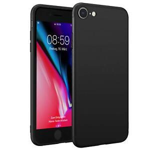 Huelle-iPhone-7-iPhone-8-Schutzhuelle-Handy-Huelle-Slim-Case-Weich-Matt-Schwarz