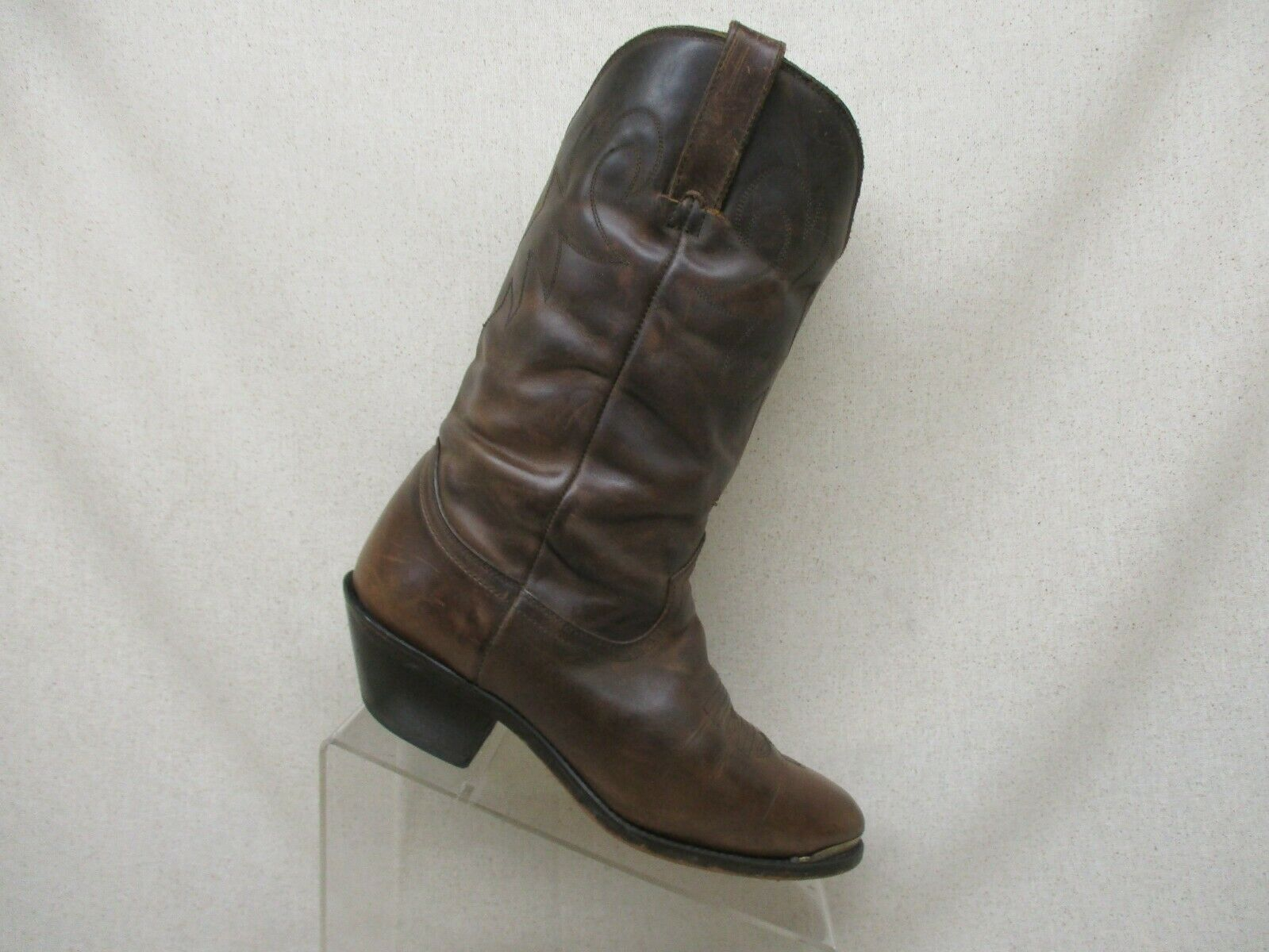 DURANGO Brown Leather Slouch Cowboy Western Boots Womens Size 7.5 M Style RD542
