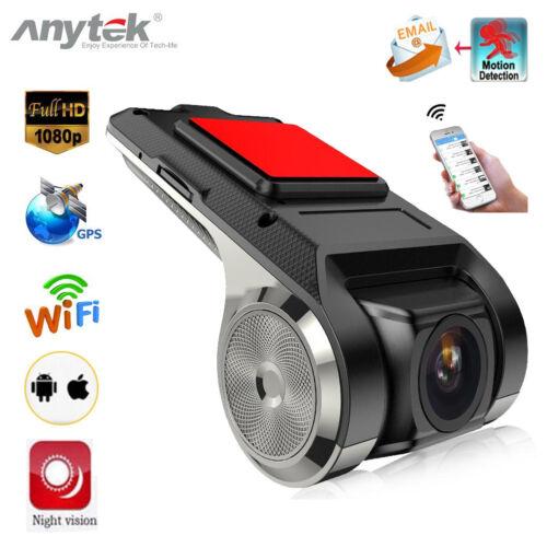 Anytek X28 1080P Car DVR Camera Video Recorder WiFi ADAS G-sensor Dash Cam GPS
