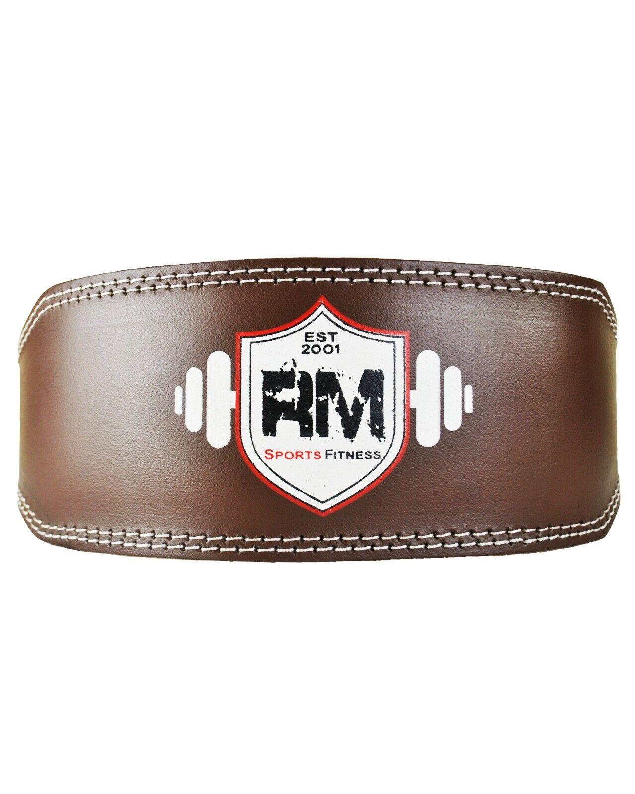 Ringmasteruk cuir véritable Lifting Puissance Poids Lifting véritable Ceinture Gym Entraînement Fitness 60c701
