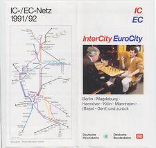 Zuglauf piano IC/EC Berlino per Ginevra e ritorno 1991/92 (agk1176)