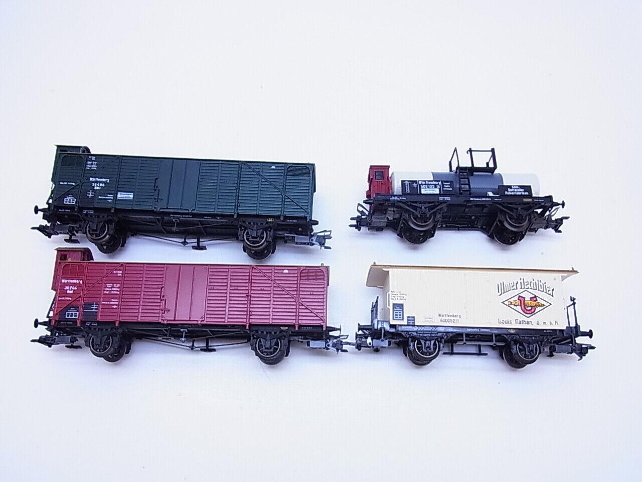 Lot 58885   Set con 4 X marklin h0 autoro merci Württemberg come nuovo