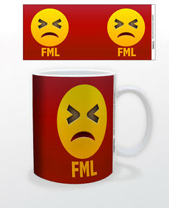 Emoji Fml 11 Oz Coffee Mug Tea Cup Art Decor Keyboard Mac Funny Pc