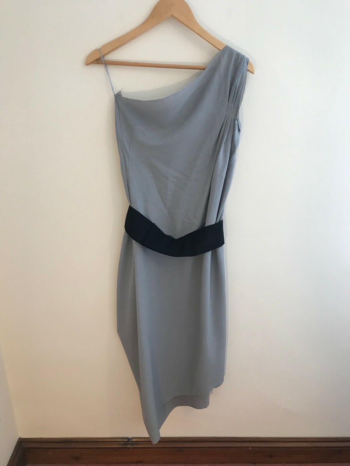 Roland Mouret Grey Draped Dress
