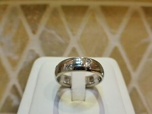 Platinum-6-diamond-etoile-starlight-band-ring-6mm-wide-12-9g-estate-7-75-8-sign