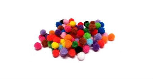 Pom Poms Small Craft 8mm Home DRY Choose Colour and Quantity UK Seller ! New