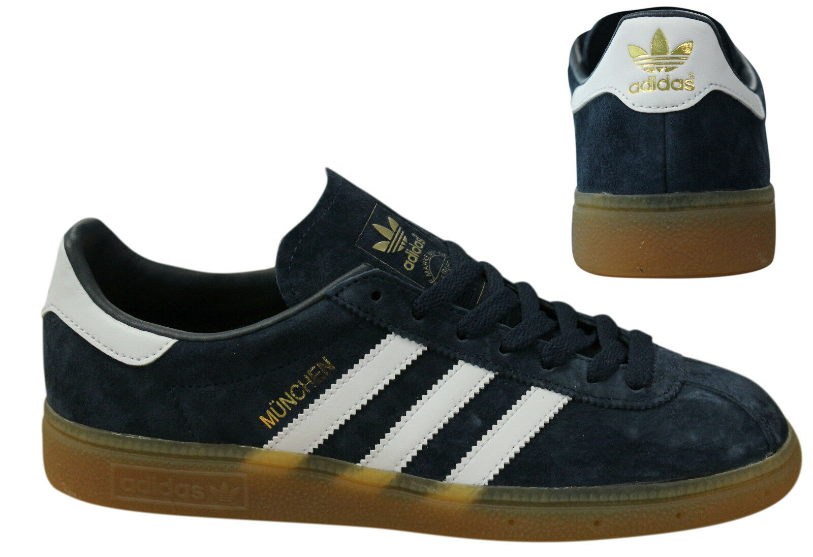 Adidas Originals Munchen Mens Trainers Lace Up shoes Navy BB5297 M5