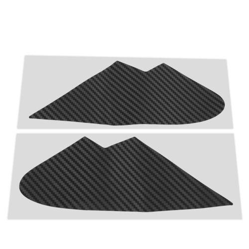 3D Carbon Fiber Vinyl Quarter Window Trim Overlays For Subaru WRX//STI 2015 2016