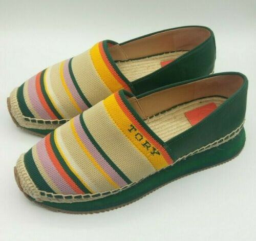 Tory Burch Woven Striped Espadrilles Ss20 Shoe Or… - image 1