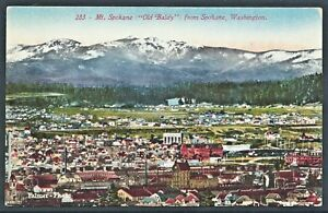 Old-Baldy-Spokane-1907-Divided-Back-Hand-Tinted-PC-by-Souvenir-Publishing-UNUSED