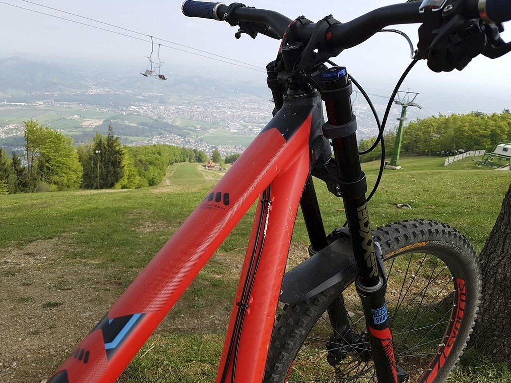 Red//Black AMSFG2RDBK All Mountain Style Honeycomb Frame Guard
