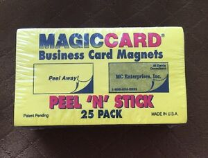 Self adhesive peel and stick business card size magnets magic card image is loading self adhesive peel and stick business card size colourmoves Gallery