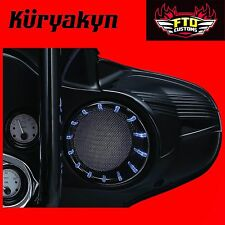 Kuryakyn Chrome LED Speaker Bezels Lights Harley Touring Batwing Fairing 96-2013