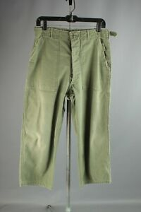 Vtg-Men-039-s-1950s-US-Army-Button-Fly-Sateen-Utility-Field-Pants-30x24-50s-6590