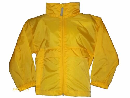 bn girls pretend to bee yellow hooded cagoule showerproof jacket 3,4,5,6,7,8 yrs