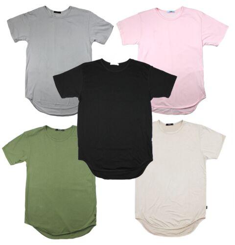 Eptm homme allongé courbe Hem Scoop manches courtes Long Tee T-shirt en coton neuf